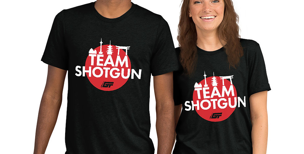 Black 'Team Shotgun' Unisex Tri-Blend T-Shirt