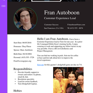 #6 Employee Profile Page