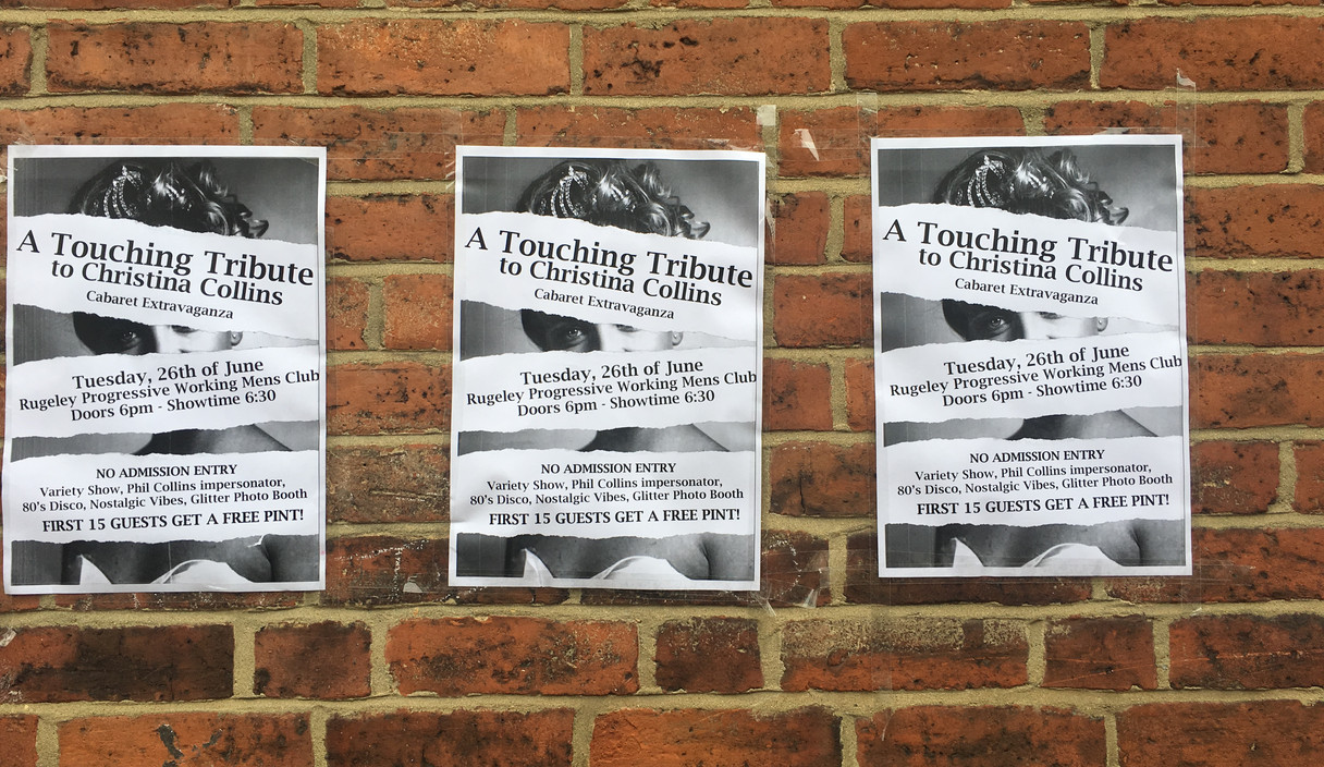 Cabaret Extravaganza Posters In Rugeley Town
