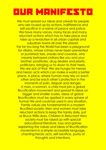 Brucification Manifesto
