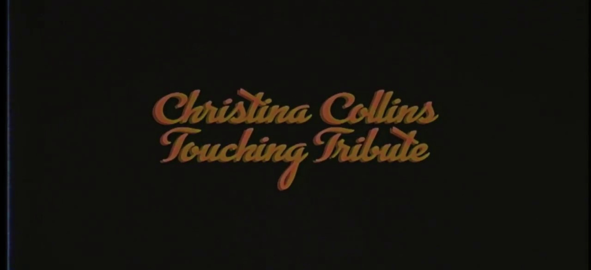 Christina Collins Touching Tribute VHS