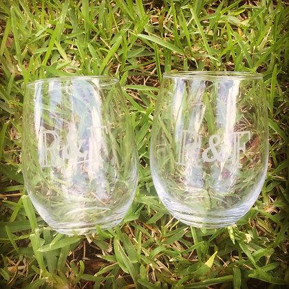Monogramed Glassware