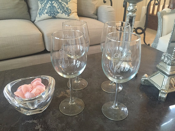 Monogramed Wine Glasses