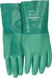 Gloves - Green Neoprene, L