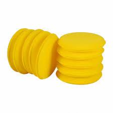 "Round Foam Applicator Pad - Yellow 4"""