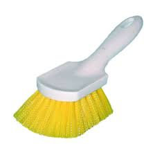 Short Handle Fender Brush - Yellow Plastic
