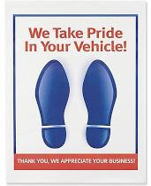 "Floor Mats - Red/Blue Foot 17"" x 22"" GB PFM"