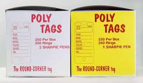 Poly Tag - WHITE #250