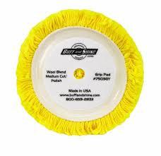 Pad - Velcro Wool Yellow