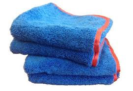 Towel - Blue & Gray with red trim