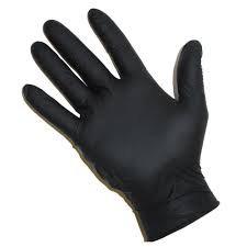 Gloves - Black Nitrile, L