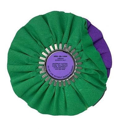 "Green/Purple Smooth Kut 10"""