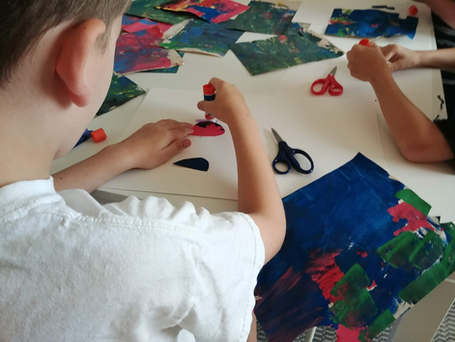 """""""Drawing with Scissors"""" -Collage (Matisse & Eric Carle as inspiration)"""