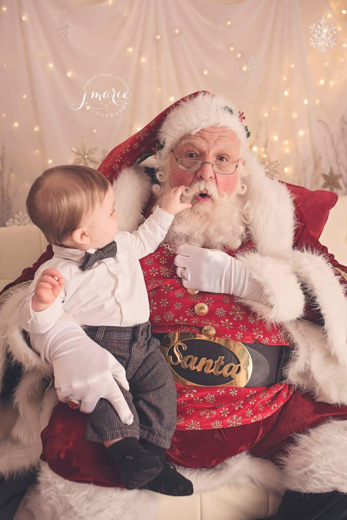 Tugging Santa's Beard