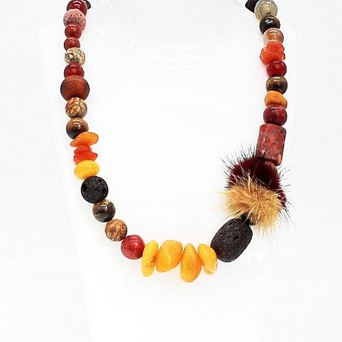 Rav halskæde