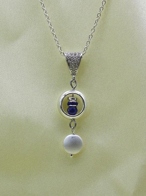 Vedhæng med krystal perle
