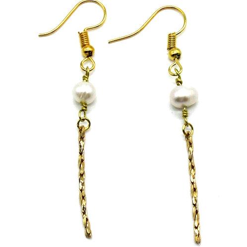 Perle øreringe