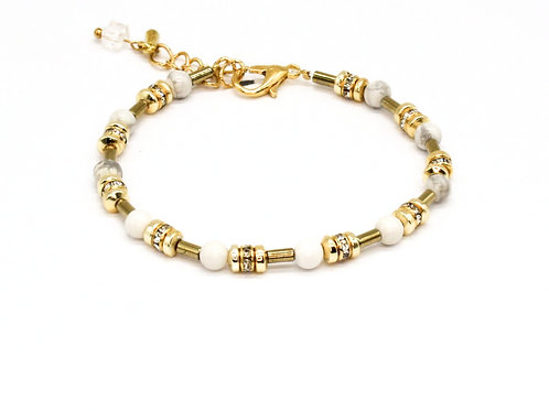 Guld armbånd med azurit