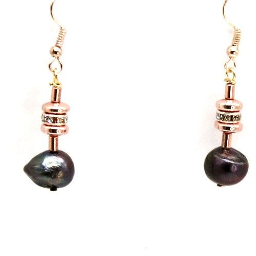 Øreringe med perler