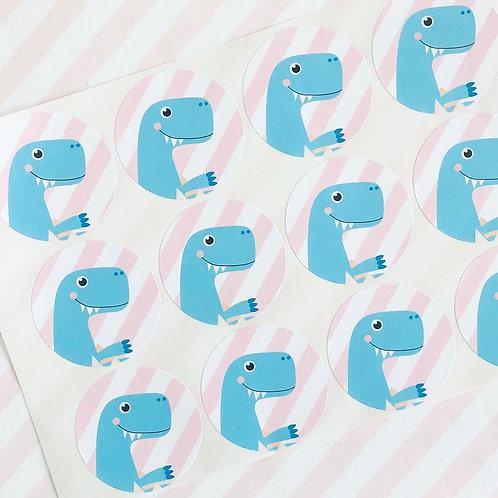 Dinky Dino Envelope Seals (girl)