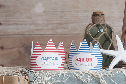 Nautical Party Crowns