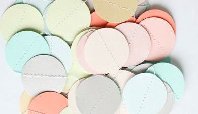 Pastel paper garland