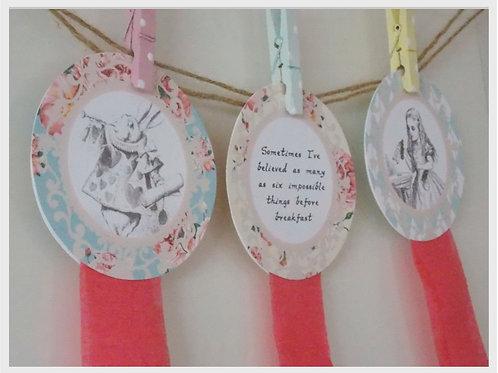 Alice in Wonderland Rosette Decorations