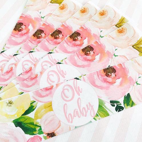 Floral Baby Shower Bottle Labels