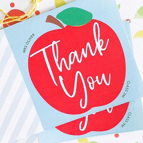 Apple Thank You Teacher Card