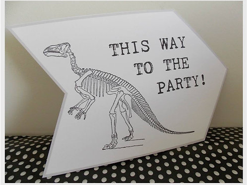 Dinosaur Party Sign