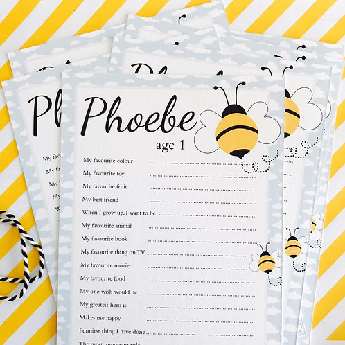 Bumble Bee Question Cards