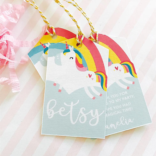 Cute Unicorn Tags