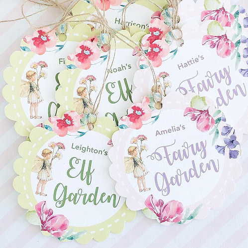 Flower Fairy Scallop Favour Tags