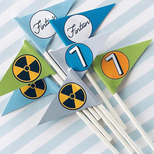 Science Party Mini Flags