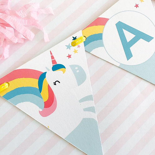 Cute Unicorn Party Bunting