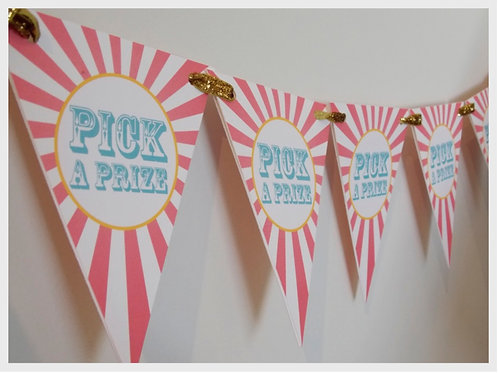 Pick a Prize Party Bunting (girl)