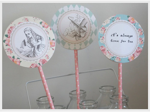 Alice in Wonderland Lollipop Decorations