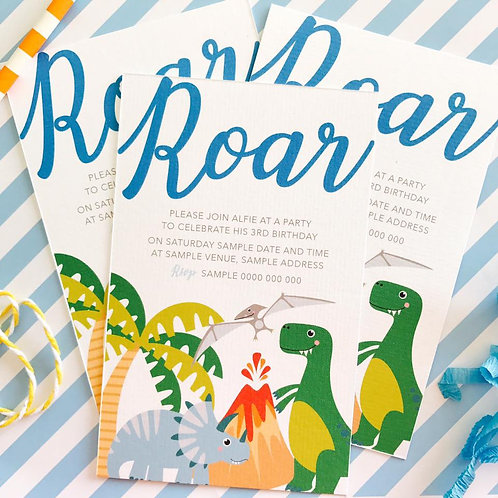 Dinky Dino Party Invitations