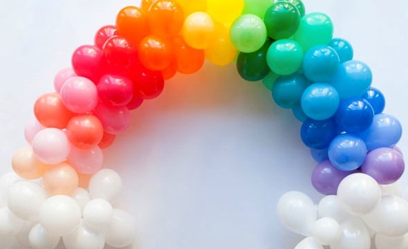 Rainbow ballon arch