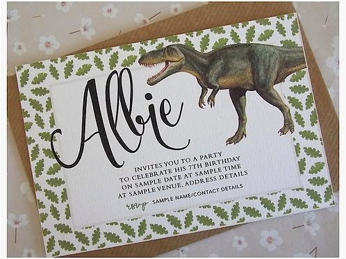Dinosaur Roar Invitations
