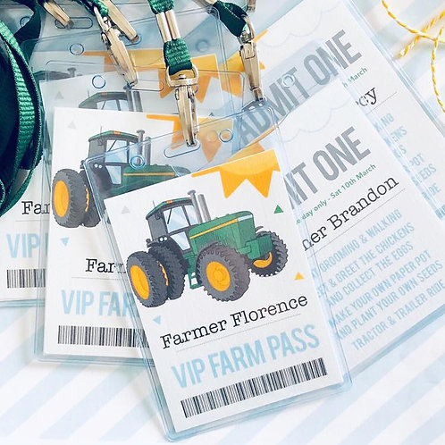 Tractor Party Lanyards