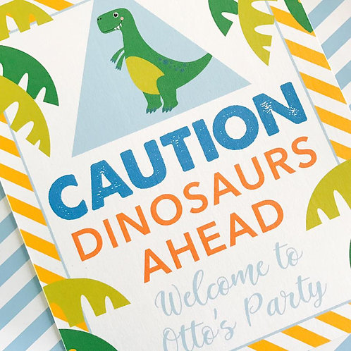 Dinky Dino Party Sign