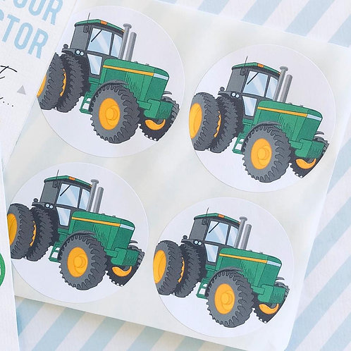Tractor Party Stickers