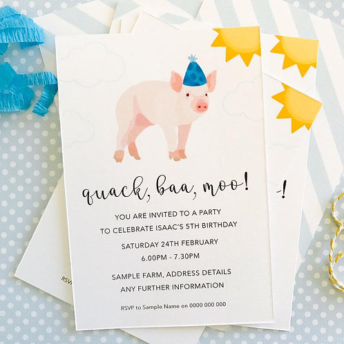 Party Pig Invitations