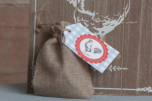 Farm Party Tags (with ribbon tie)