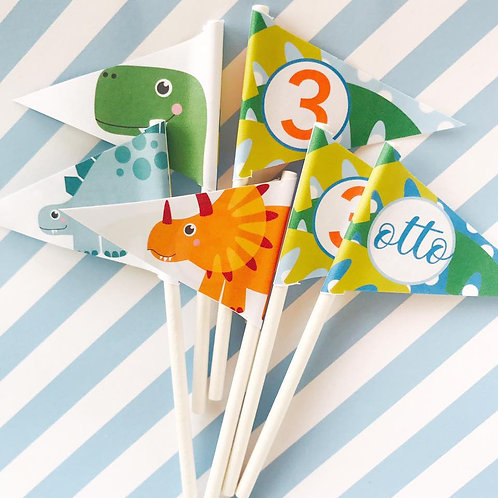 Dinky Dino Mini Flags