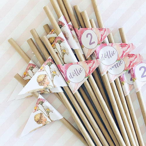 Flower Fairy Straws