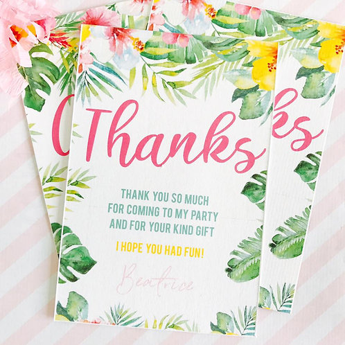Tropical Thank You Cards