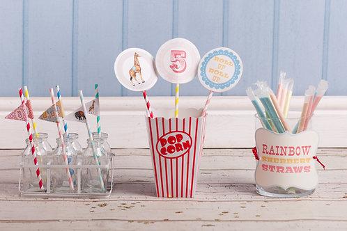 Vintage Circus Lollipop Decorations