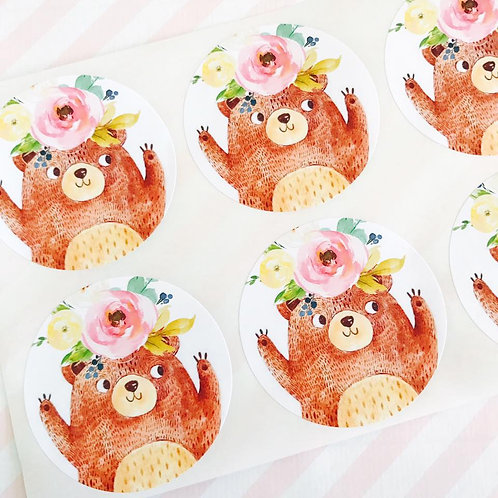 Teddy Bears Picnic Stickers (girl)